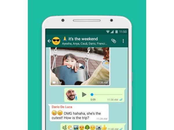 WhatsApp video preview notification