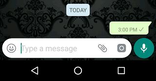 whatsapp blank text