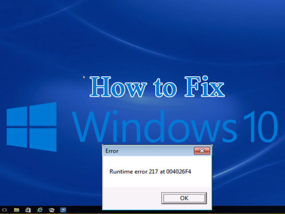 fix runtime error 217 windows