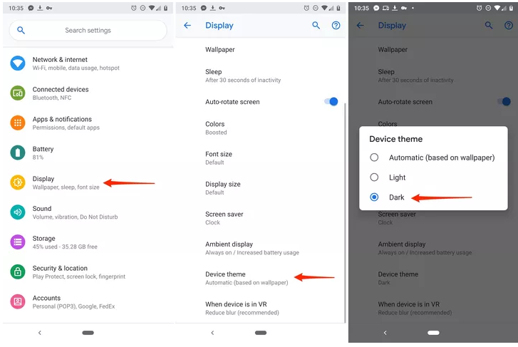 How to make Google dark mode_1