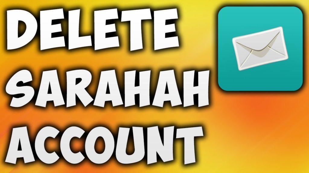 delete Sarahah account