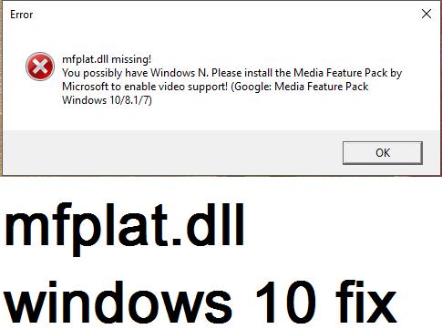 dll missing error windows 10