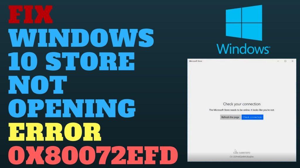 windows store error
