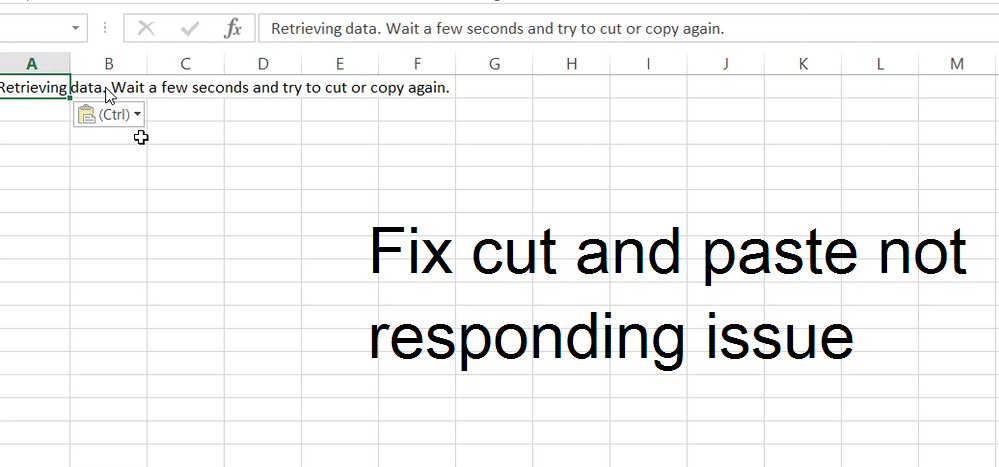 cut and paste not responding