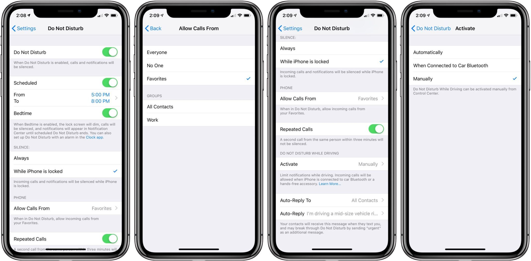 iPhone XR do not disturb function