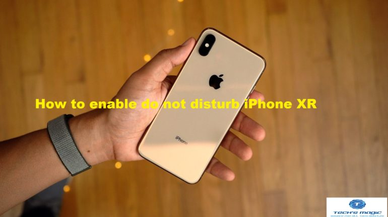 enable do not disturb iPhone XR