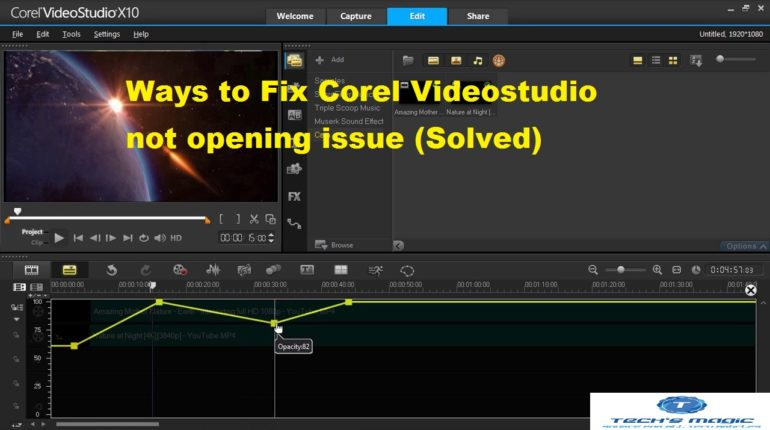 Corel Videostudio X10 keeps crashing