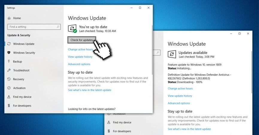 feature update to windows 10 version 1809 errore 0x80d05001