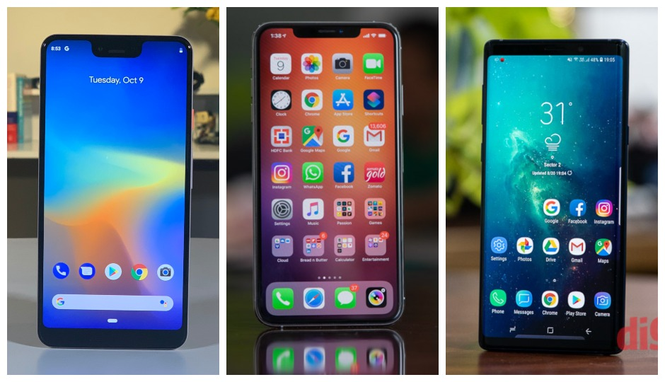 iPhone XS Max Vs Pixel 3XL Vs Galaxy S10 Plus