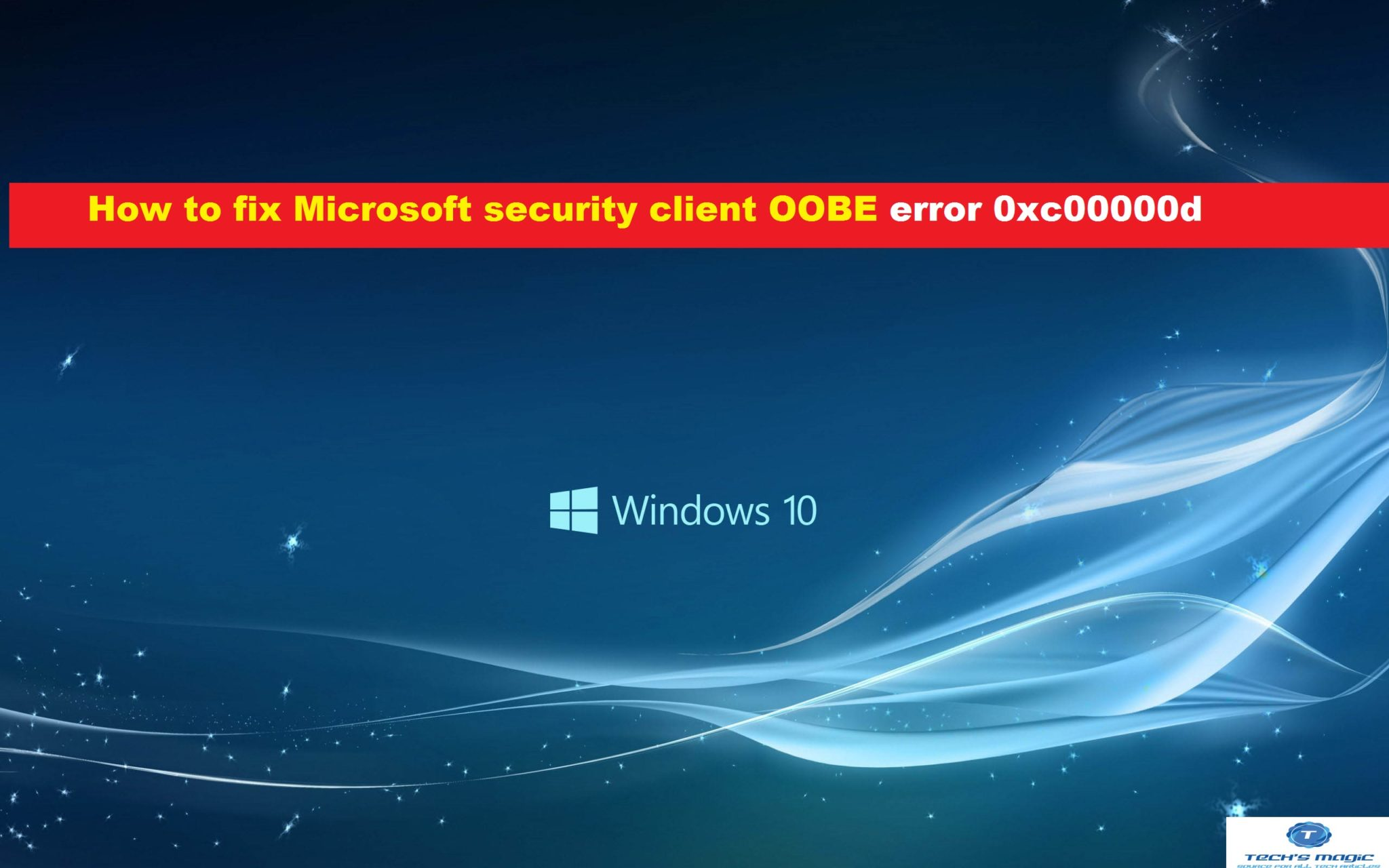 Microsoft security client OOBE windows 10