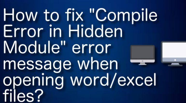 fix compile error in hidden module excel