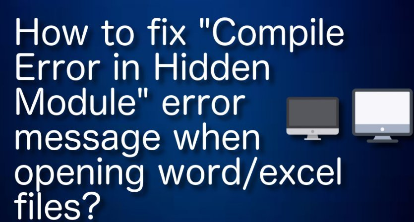 fix compile error in hidden module excel