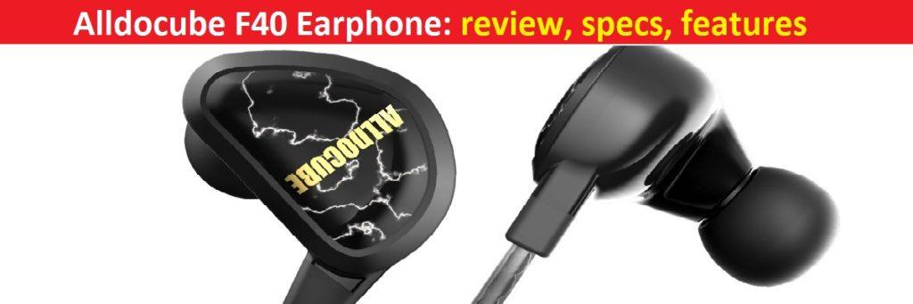 Alldocube F40 Earphone review