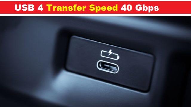 USB 4 Transfer Speed 40 Gbps