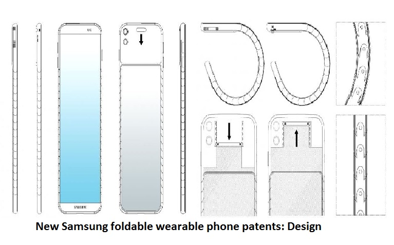 New Samsung foldable wearable phone patents