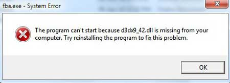 D3dx9_42.dll Is Missing