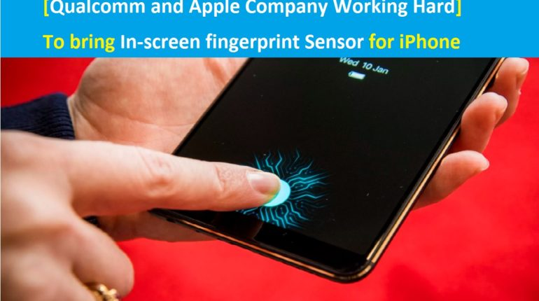 Ultrasonic In-screen fingerprint sensor