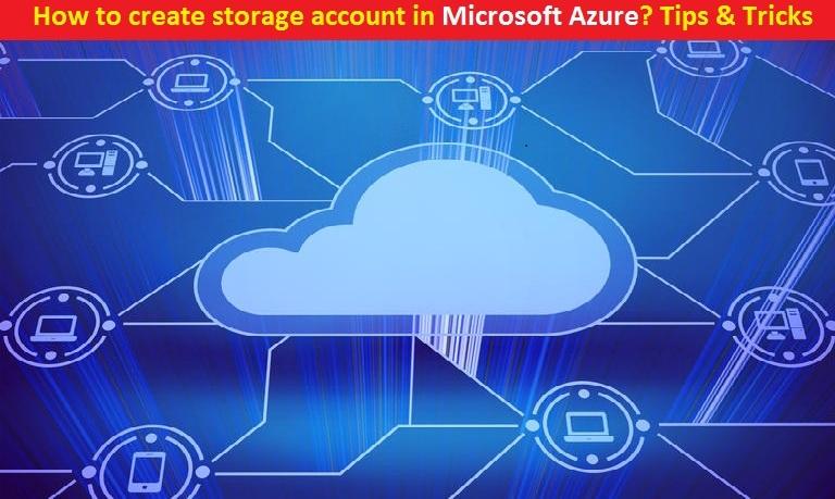 Microsoft Azure create storage account
